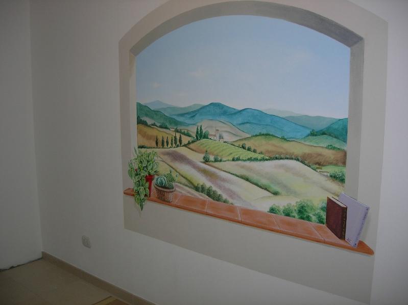 Trompe L Oeil Adesivi Murali.Trompe L Oeil Moderno